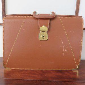 Genuine Leather, Nylon Coated Briefcase, Vintage